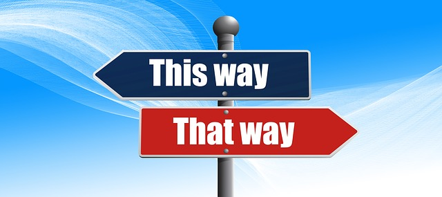Digital workplace heading. This way that way