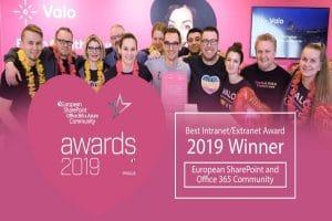 Valo best intranet extranet solution ESPC awards 2019