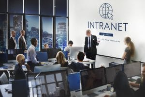 Benefits of an intranet to an organization