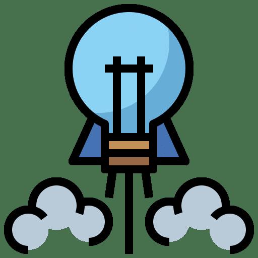 Good idea lightbulb takeoff